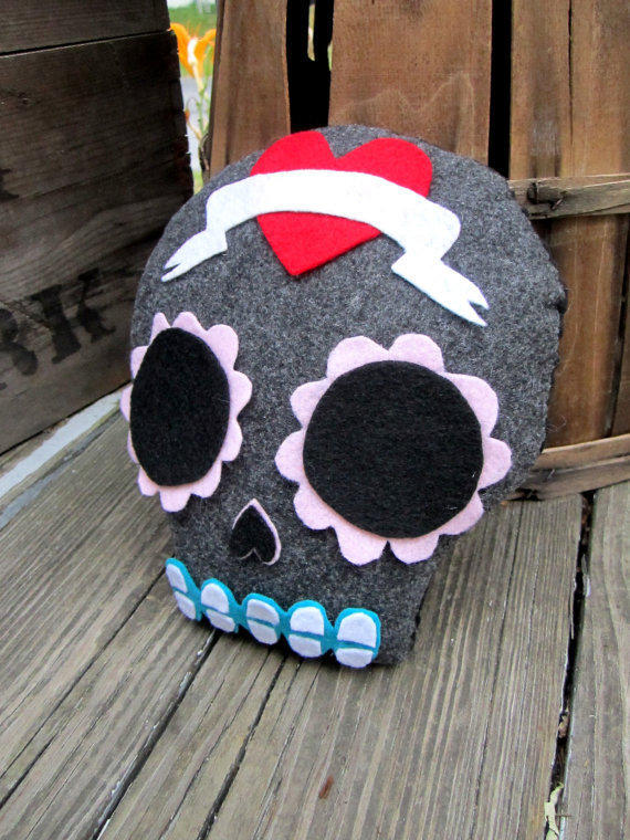 Plush Sugar Skull by cosamuerta