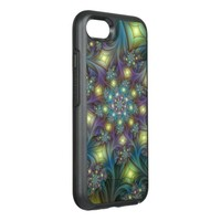 Illuminated, luminous modern Fractal Art Pattern OtterBox Symmetry iPhone 7 Case