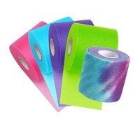 Tie-dye Pre-wrap - Teal, Lime Green, Hot Pink and Purple Pre-wrap (Night Sky Bundle)