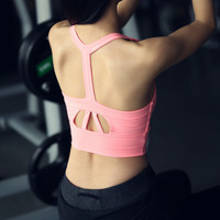 Women Sport Suit Fitness Sportswear Stretch Exercise Yoga  Top Women Tank Vest _ 2171