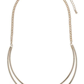 Cut Out Semi Circle Necklace - New In This Week  - New In