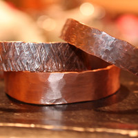 Hammered Copper Cuff - several textures available