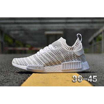 Adidas NMD R1 Stlt Spring Summer 2018 Line up White Running Sport Shoes Camouflage Sneakers Casual Shoes