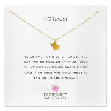Dogeared I Heart Texas Pendant Necklace | Nordstrom