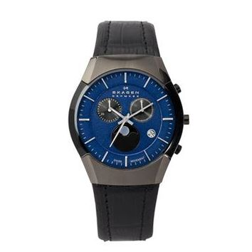 Skagen Black Label Chronograph Moonphase Mens Watch 901XLMLN