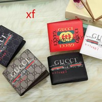 GUCCI Men Leather Purse Wallet