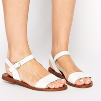 Windsor Smith Bondi White Flat Sandals