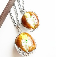 Baked Potato Necklace