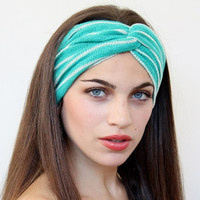 Very Cute Twisted Turbans Headband   made from knitted fabric great accessory for your outfit