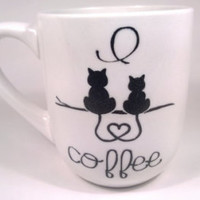 Cat Lover Mug - White Coffee Mug - Cat Coffee Mug - Crazy Cat Lady Mug - Kitty Mug - White Coffee Cup - Ceramic White Cup - Small Mug - Cat