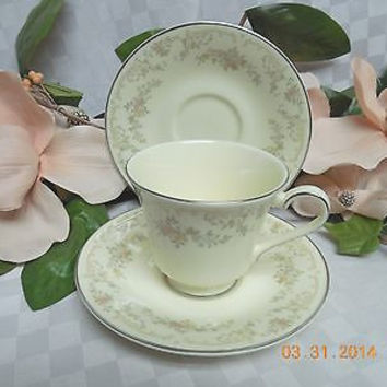 Royal Doulton, England China Dinnerware Diana Pattern # H5079 Cup and 2 saucer
