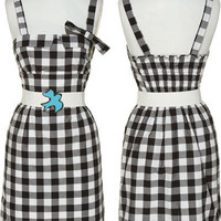 JACK by BB Dakota Gingham Dress W/ Elastic Belt