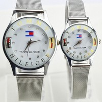Tommy Hilfiger Fashion Women Men Letter Print Diamond Quartz Watches Wrist Watch