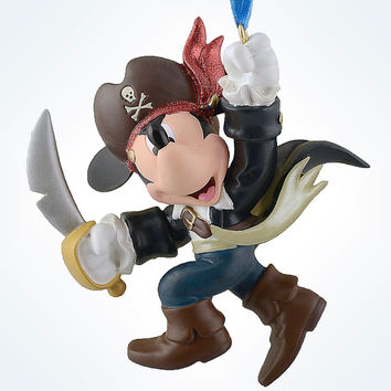 disney parks christmas mickey mouse pirate resin ornament new with tag