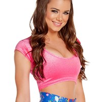 Rave Sparkle Velvet Crop Top