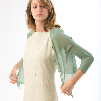 Emerald Green Cardigan knitted Jacket