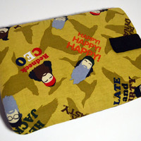 Hand Crafted Tablet Case From Licensed Duck Dynasty Faces Fabric/Case for iPad, Kindle Fire HD, iPad Mini, iPad Air, Samsung Galaxy Tab