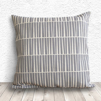 Pillow Cover, Geometric Pillow Cover, Cushion Cover, Linen Pillow Cover 18x18 - Printed Geometric - 026