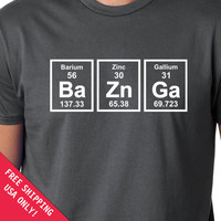 BaZnGa Periodic Table mens womens T-shirt Chemical Elements shirt tshirt Christmas gift tshirt shirt  s-2xl choose color