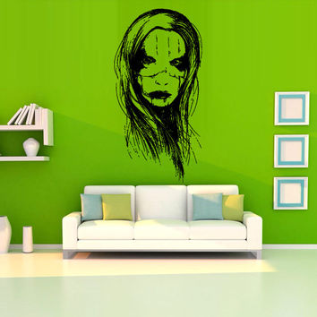 Wall decal decor decals sticker art vnyl design mummy zombie horror fear dead woman myth character corpse Bedroom (m1239)