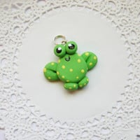 Kawaii Frog Necklace Charm Necklace Pendant for Party Favors, Necklaces, Back Packs, Zippers, DIY Projects and More