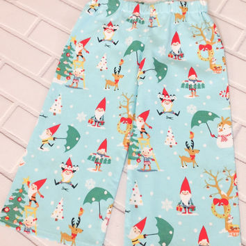 Boys Christmas Pants 2T Ready To Ship Gnomes Red Blue Boutique Clothing By Lucky Lizzy's