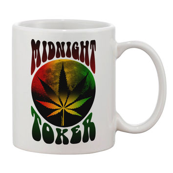 Midnight Toker Marijuana Printed 11oz Coffee Mug
