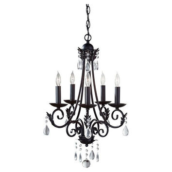 Feiss Nadia 5-Lt Single Tier Chandelier - F27585BK