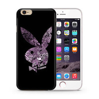 Top Playboy Bunny Rabbit Logo Hard Case For iPhone 6 6s 7 8 Plus X Cover +