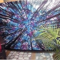 tie dye tapestry diy wall hippie mandala tapestry forest twin bohemian bedding