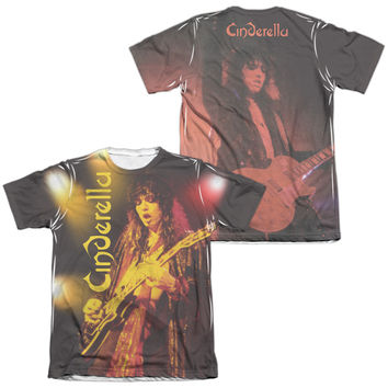 CINDERELLA/LIVE SHOW (FRONT/BACK PRINT)-ADULT POLY/COTTON S/S TEE-WHITE-3X