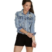 Denim Jackson Distressed Jacket