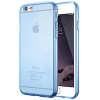 Blue Ultra Thin Soft TPU Gel Original Transparent Crystal Clear Silicon For iPhone 6 6s 6 Plus 6s Plus
