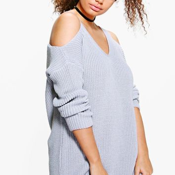 Plus Lisa Open Shoulder Slouchy Jumper | Boohoo