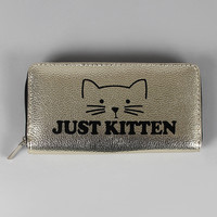 Just Kitten Metallic Wallet