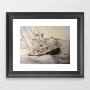 Afternoon sail on Heritage 12 US 23 Framed Art Print by DJ Beaulieu