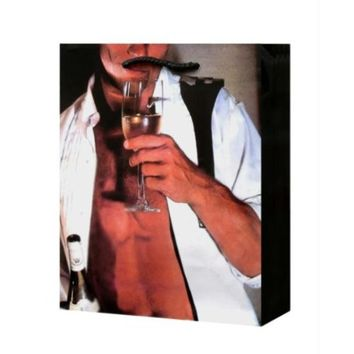 Comstock Man In Unbuttoned Tux Drinking Champagne Gift Bag