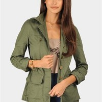 Hey Jude Combat Jacket - Olive at Necessary Clothing