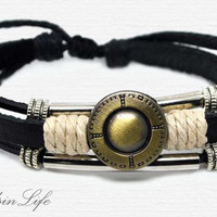 Hand-woven ethnic leather hemp bracelet BL7