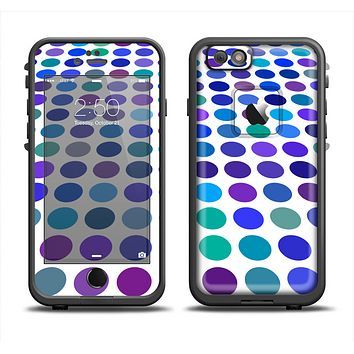 The Blue and Purple Strayed Polkadots Apple iPhone 6 LifeProof Fre Case Skin Set