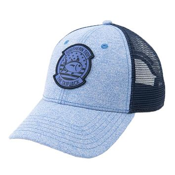 Patriot Patch Heather Trucker Hat by Southern Tide