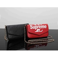 LV x Supreme Fashion Women Shopping Crossbody Chain Satchel Shoulder Bag I-MYJSY-BB