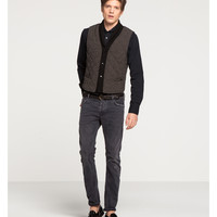 Quilted Wool Blend Gilet