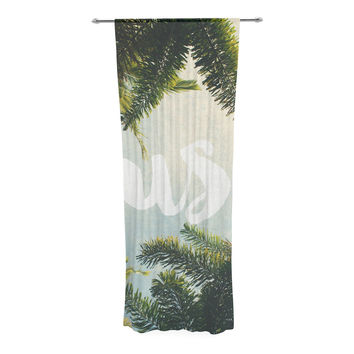 "Catherine McDonald ""Lush"" Nature Typography Decorative Sheer Curtain"