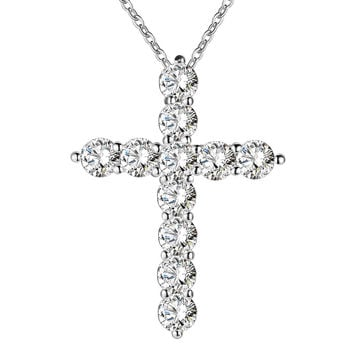 Silver & Crystal Cross