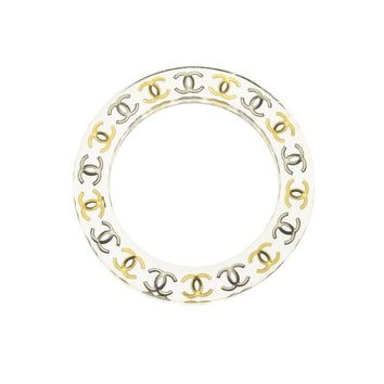 Pre-owned Chanel Clear Lucite Cuff