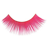 Neon Pink False Eyelashes- Party City