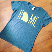 Home- home state - home state tee - home is where the heart is - state t-shirt - womens fit shirt - home t-shirt - plus size tee - plus size