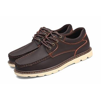 Genuine Leather Shoes Casual Men Shoes Designer Leather Male Shoes Luxury Men Flats