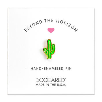 Dogeared | Beyond The Horizon Cactus Enamel Pin